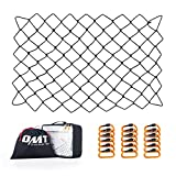 Orion Motor Tech Cargo Nets for Roof Rack, 3x4 Foot Cargo Net Set for Pickups SUVs, Roof Rack Net with 6x8 Foot Max Size, 3x3 in. Small Mesh Short Bed Cargo Net Holds Small & Large Loads Tighter
