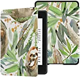 Colorful Star Slimshell Case for Kindle Paperwhite 10th Generation 2018 - PU Leather Cases and Covers for All-New Kindle Paperwhite E-Reader - Sloth Painting