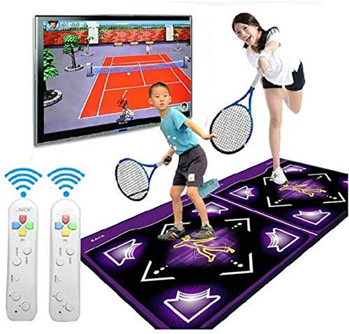 Drahtlose Doppeltanzmatten Verdickendes schallisolierendes Soft Dance Pad 3D Somatosensorische Spielekonsole HD-TV-Computer zur doppelten Verwendung Yoga Gewichtsverlust