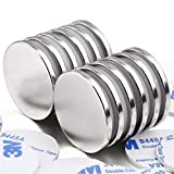 MIKEDE Strong Neodymium Disc Magnets, 12 Pack Powerful Permanent Rare Earth Magnets with Double-Sided Adhesive for Fridge, DIY, Scientific, Craft,and Office Magnets, 1.26 inch D x 1/8 inch H