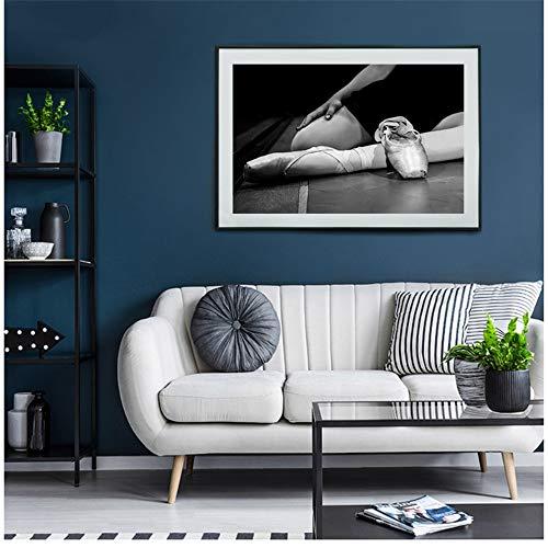 Wandkunst Tanzschuhe Leinwand Schwarz Weiß Kunstdrucke Gemälde Poster Bilder Für Wohnzimmer Home Decoration-50x70 cm / 19,7