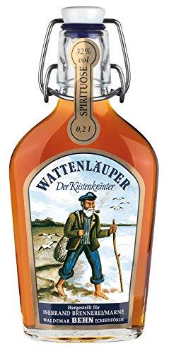 Wattenläuper Taschenflasche Spirituose mit Kräutern, mit 32% vol (3 x 0.2 l)