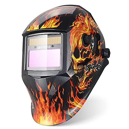 Automatica Casco per saldatura Ampia vista Maschera per Saldatura ad Energia Solare Casco di Saldatura Maschera Saldatore Auto oscurante gamma di tonalità regolabile 4/9-13