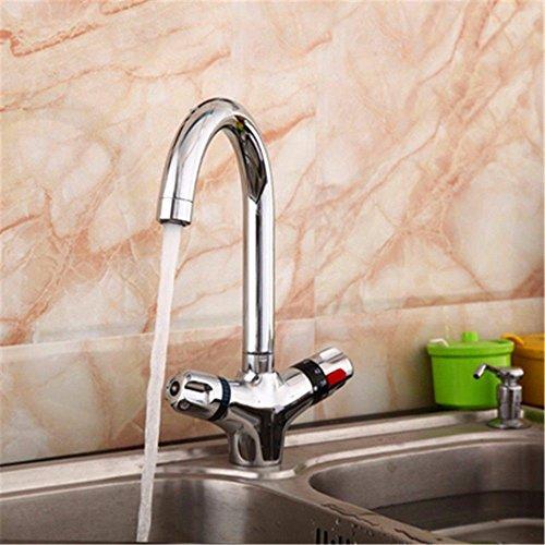 MEIBATH Robinets de lavabo Salle de Bain l'eau Chaude Froide Thermostatique Vanne thermostatique Mitigeur d'évier Robinet de Lavabo Robinets de Cuisine