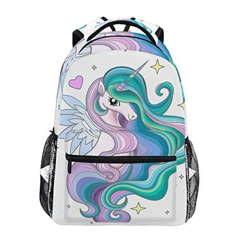 Bellissimo zaino da scuola con unicorno arcobaleno per ragazzi ragazze e bambini borsa da viaggio