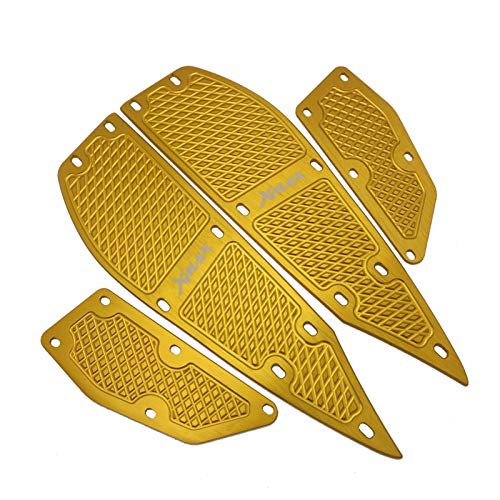 Motorcycle X MAX Footrest Foot Pads Pedal Plate Pedals For XMAX 300 XMAX 400 XMAX 250 XMAX 125 2017 2018 2019 Accessories (Color : E)