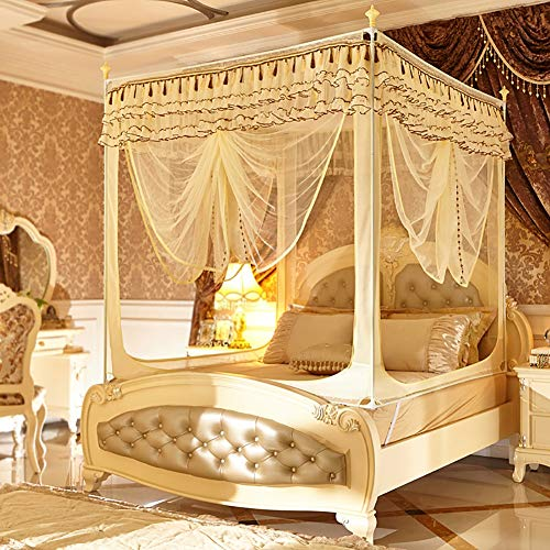 Why Should You Buy HEXbaby 4 Corners Princess Bed Curtain Canopy Canopies for Girls Boys Adults Bed ...