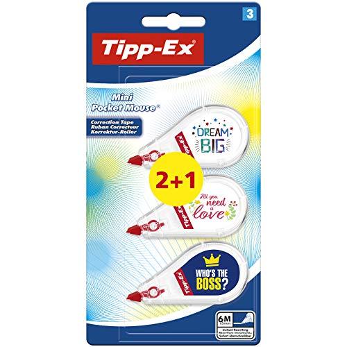 Bic Tipp-Ex Mini Pocket Mouse Decorated correttore a nastro formato pocket con decori confezione 3 8516807