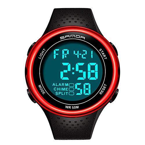 For hombre de las mujeres reloj digital de Deportes ultra-delgado y ancho de visión de ángulo de diseño a prueba de agua 3 en la residencia de cuenta atrás del tiempo dual tiempo dividido Cronómetro d
