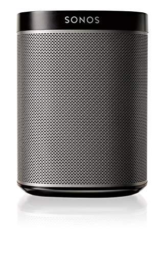 Sonos Play: 1 - Altavoz inteligente compatible con dispositivos Amazon Echo, cabe en cualquier sitio debido a su tamaño y es resistente a la humedad, color negro