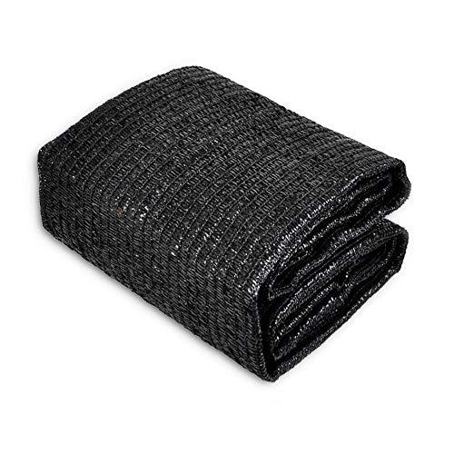 FENGLISUSU Sunblock 50% Shade Cloth Sun Net, Garden Shade Mesh Fabric for Patio, Plant Cover, Greenhouse,Black (Size : 10x12ft)