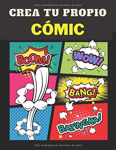Crea tu propio cómic: 120 originales plantillas de cómics en blanco para adultos, | Plantillas de cómics en blanco | Crea tu Cómic | Cuaderno de dibujo para adultos, adolescentes y niños