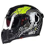 Casco Moto Full Face caSchi Inverno Caldo Doppio Visiera Racing Casco capacete Casco Modular Moto...