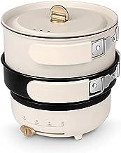 JTJxop Mini Poêle Électrique 2 en 1, Cuisinière Électrique Multifonction De Voyage, Hot Pot Électrique, Revêtement Antiadh...