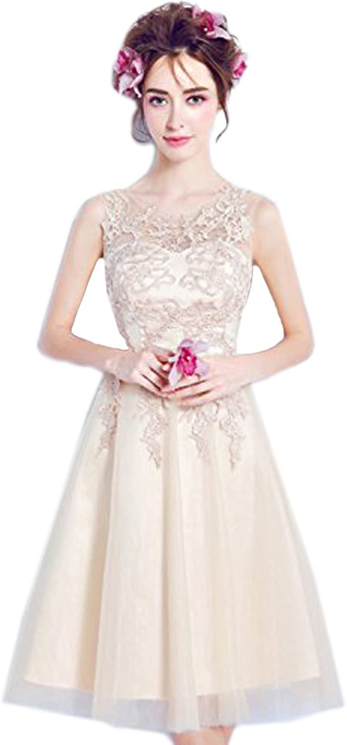 JoyVany Sexy Bridesmaid Gowns Lace Beadings Without Sleeves Bridesmaid Dress