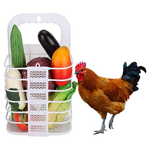 CUEA Fütterungshalter Hängender Feeder Hühnchen-Gemüsekorb, Hühnchen-Hängender Feeder, Hängendes Spielzeug für das Fütterungstraining