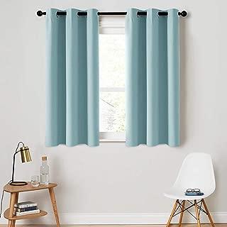 MRTREES Room Darkening Curtains Sky Blue Window Curtain Panels Bedroom 54 inches Long Boys Room Drapes Kids Room Nursery Grommet Top 1 Panel Triple Weave Window Treatment Set