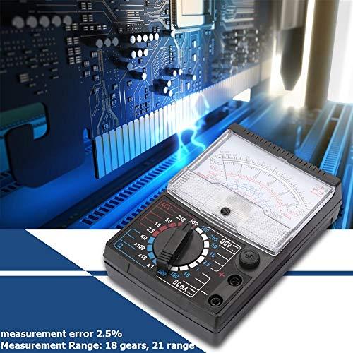 Analog Multimeter, Analog Zeiger Multimeter Multitester, Wechselstrom Gleichspannungs Widerstandsprüfgerät,Elektrischer Widerstandstester