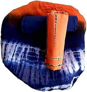 FEMEZONE Women's Cotton Dress Material (Orange)