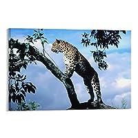 ヒョウキャンバスアートポスター装飾絵画壁アート写真家の寝室の装飾アートワーク08×12インチ(20×30cm)