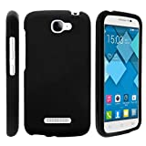 Compatible with Alcatel One Touch Fierce 2 Case | POP Icon Case [Slim Duo] Hard Shell Snap On Case Fitted Protector Matte on Black Sea Ocean by TurtleArmor - Black