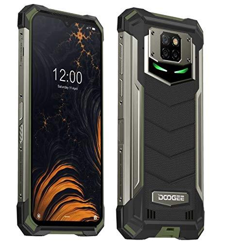 DOOGEE S88 Plus(8GB+128GB) 10000mAh Akku Outdoor Smartphone Ohne Vertrag, 48MP Quad-Kamera, Octa-Core Android 10, 6,3'' FHD+ Corning Gorilla-Glas, Drahtlose Rückladung, IP68 Robustes Handy Grün