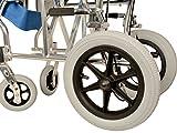 GIMA Aluminium Queen Rollstuhl hellblauer Sitz 46 cm, ultraleichter Rollstuhl nur 9,5 kg - 3