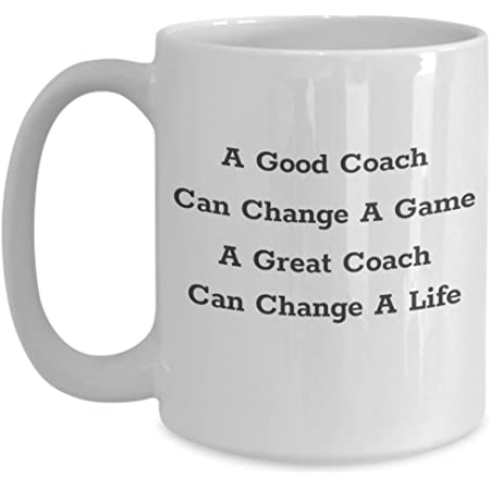 Amazon Com A Great Coach Mug Gift For Basketball Football Baseball Volleyball Coaching Best Ever 11oz Or 15oz Ceramic Novelty Coffee Tea Cup Kitchen Dining