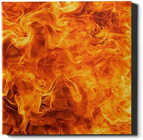 Impresión de arte de pared Blaze Fire Flame Texture Canvas Art Print Print Wall Painting 20 X20 Inch Wall Artworks Imágenes para la decoración del dormitorio de la sala de estar