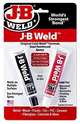 J-B Weld 8265S Cold Weld Steel Reinforced Epoxy with Hardener, 2 oz by J-B Weld
