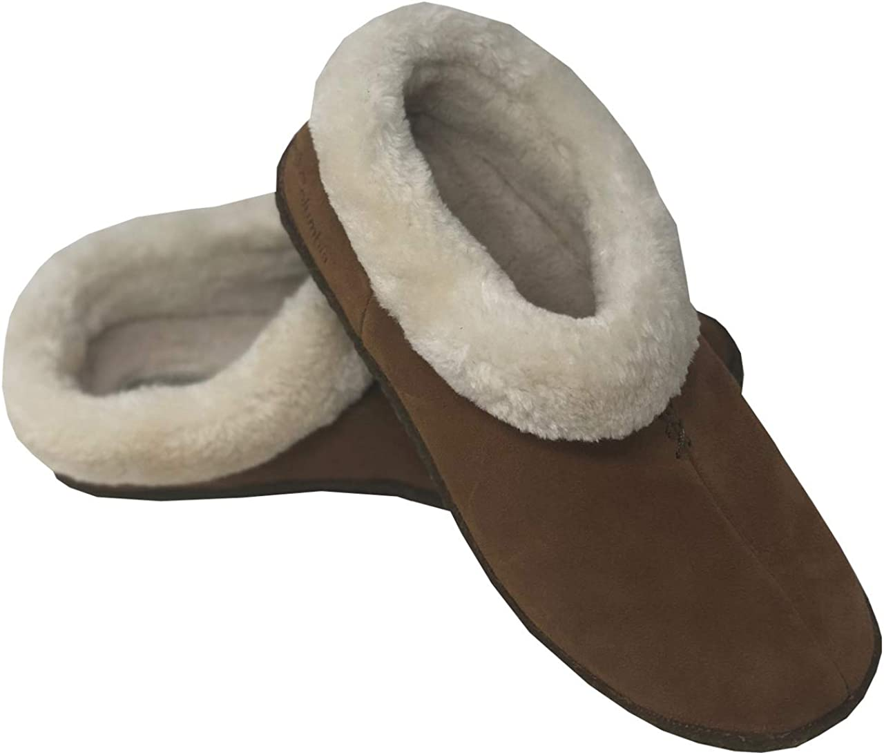 Columbia Womens Duchess Hill Suede Fur Slippers