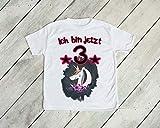 Ich bin jetzt 3 Kind T-Shirt 98-104 Kleinkind Mädchen Einhorn Unicorn Glitzer Geschenk dritter Geburtstag Strampler weiß kurzarm Baumwolle