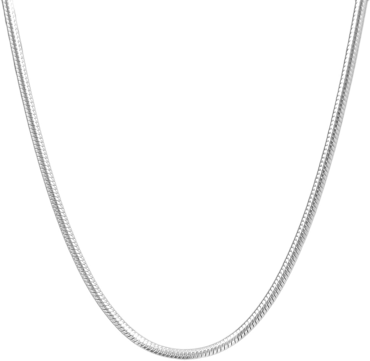 Ben Junot USA - Original Women 1.5 MM Snake Chain Necklace - Stainless Steel