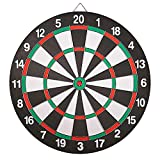 Dart board Set-Double-Sided Usable 15 Inch Dartboard Game With 6 Brass-Plastic Darts Man Cave Stuff For Adults And Teens For Bars,Arcades,Billiard Rooms,Party,Office And Family Leisure Sport