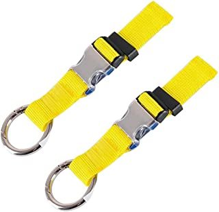Pack of 2 Add-A-Bag Luggage Strap Jacket Gripper, Luggage Straps Baggage Suitcase Straps Belts Travel Accessories, Yellow (Yellow) - HT0045-5