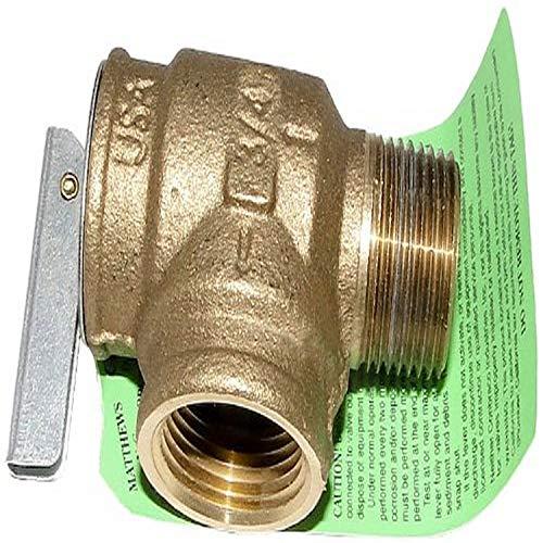 Zodiac Sternzeichen r00404003/4-Zoll NPT 75PSI Gusseisen Bronze Druckentlastung Ventil Ersatz für Select Poolheizung