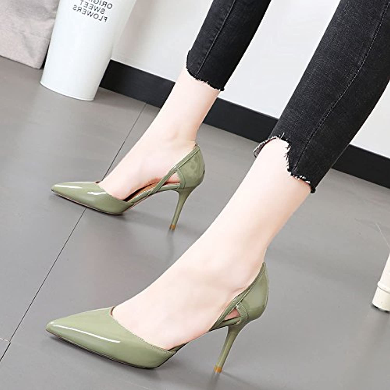 Xue Qiqi Schlanke, elegante Schuh Licht - freiliegende Spitze des high-heel Schuhe pendeln Karriere Frauen Schuhe