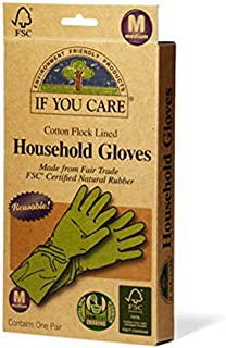 If You Care Fair Trade FSC Household Gloves, Medium, 2-pack
