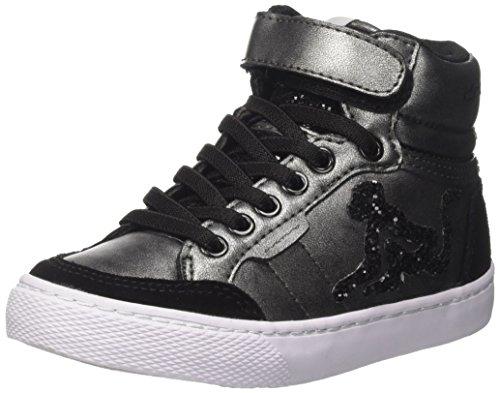 DrunknMunky Mädchen Boston Rockstar Hohe Sneaker, Schwarz (Black K66), 32 EU