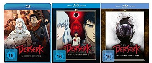 Berserk - Das goldene Zeitalter 1-3 (Special Edition) im Set - Deutsche Originalware [3 Blu-rays]