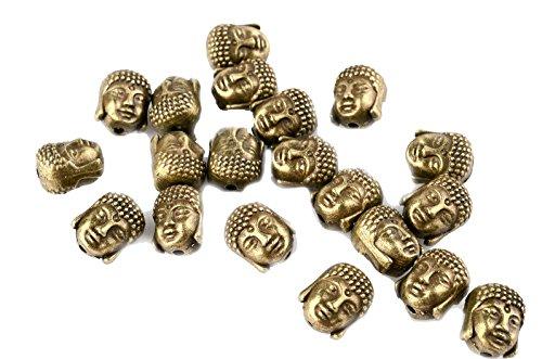 ILOVEDIY 20Stück Buddha Kopf Perlen Beads (Bronze)