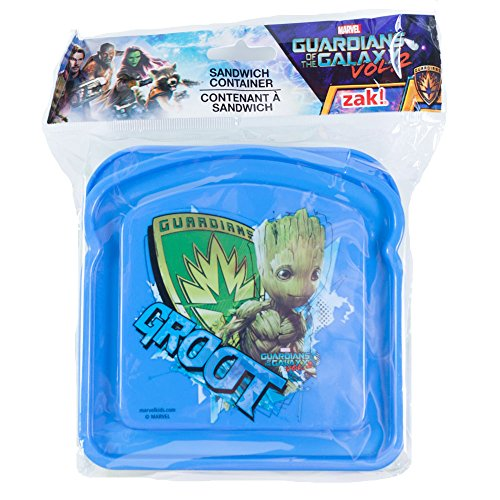 Zak BPA Free Sandwich and Bread Storage Containers, Guardians of the Galaxy, 3-pack