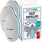 BRISON Ultrasonic Pest Repeller Plug-in Control Electronic Insect Repellent Gets Rid Mosquito Bed Bugs Roach Spiders Fleas Mice Ants Fruit Fly [3+1-Pack]
