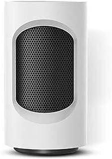 DHR Termoventiladores calefactores Espacio Mini calentador de cerámica con calefacción inclinación de protección, for Office Tabla compartida de la mesa de centro, 12 * 12 * 21 cm / 600 W