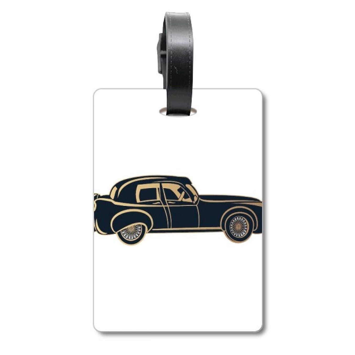 盟主聖なる兵士黒クラシックカーのパターンのシルエット 旅行カバンのタグ旅行者の識別標識