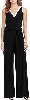 Lauren Ralph Lauren Petite Jersey Wide-Leg Jumpsuit (Polo Black, PXS)