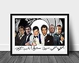 James Bond 007 Actors signierter Druck A4 (nur Poster mit