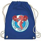 Sport Kind - Seepferdchen - Unisize - Royalblau - schwimmabzeichen - WM110 - Turnbeutel und Stoffbeutel aus Baumwolle