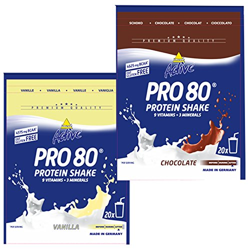 Inko Active Pro 80 Beutel 2er Mix Pack (2x500g) Schoko/Vanille (D)