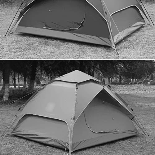 MJY Zelt Außenzelt Double Thick Rainproof 3-4 Personen Zelt Automatic Hydraulic Speed Open Zelt Zwei Farbe Optional,Grün,215 * 210 * 135 cm